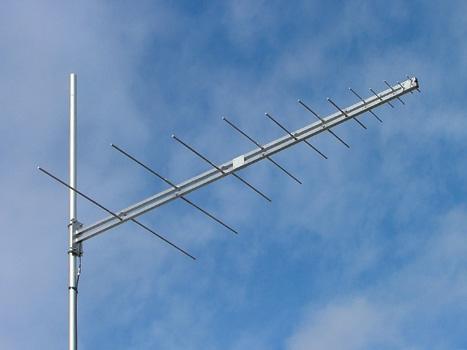 VHF and UHF log periodic Yagi, aluminium, 30-1000 MHz, 2:1 VSWR, 5.3dBi - 5.2m