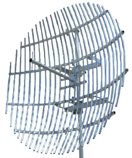 UHF STL Link Grid-pack, aluminium, 1400-1500MHz, N-female, assembly required - 1.8m / The MGP-1500N is an ideal solution for long distance or difficult terrain STL links between transmission site and studio utilising the UHF 1400-1500MHz range. The MGP-1500N is a two-piece design for easier storage and delivery and will require assembly of the 2-pieces and central launcher.