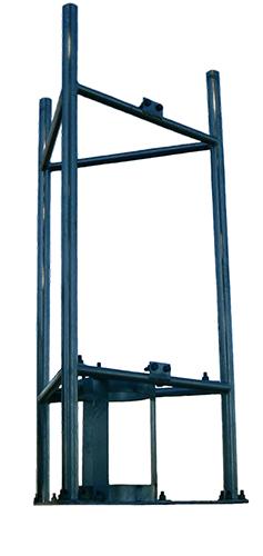 Monopole head platform to suit 310-320mm monopole, high tensile galvanised steel - 2.0m x 1.0m
