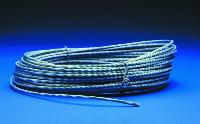 WIRE, RIGGING GALVANIZED 3MM (7 X 0.9mm) / Galvanised medium duty guy wire. 180mtr roll
