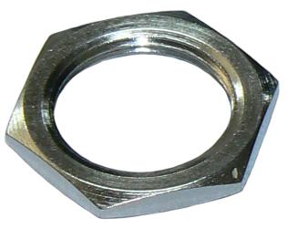 Nickel plated hex nut, 5/8