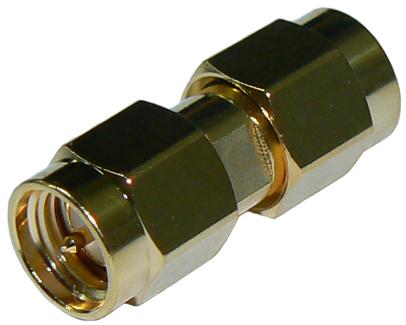 SMA male plug to SMA male plug straight adaptor