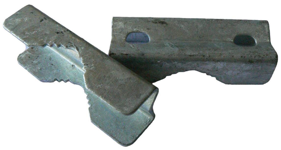 Galvanised vee block (32mm x 90mm x 23mm x 2mm),   / Galvanised steel V Clamp to suit 50 mm U bolt